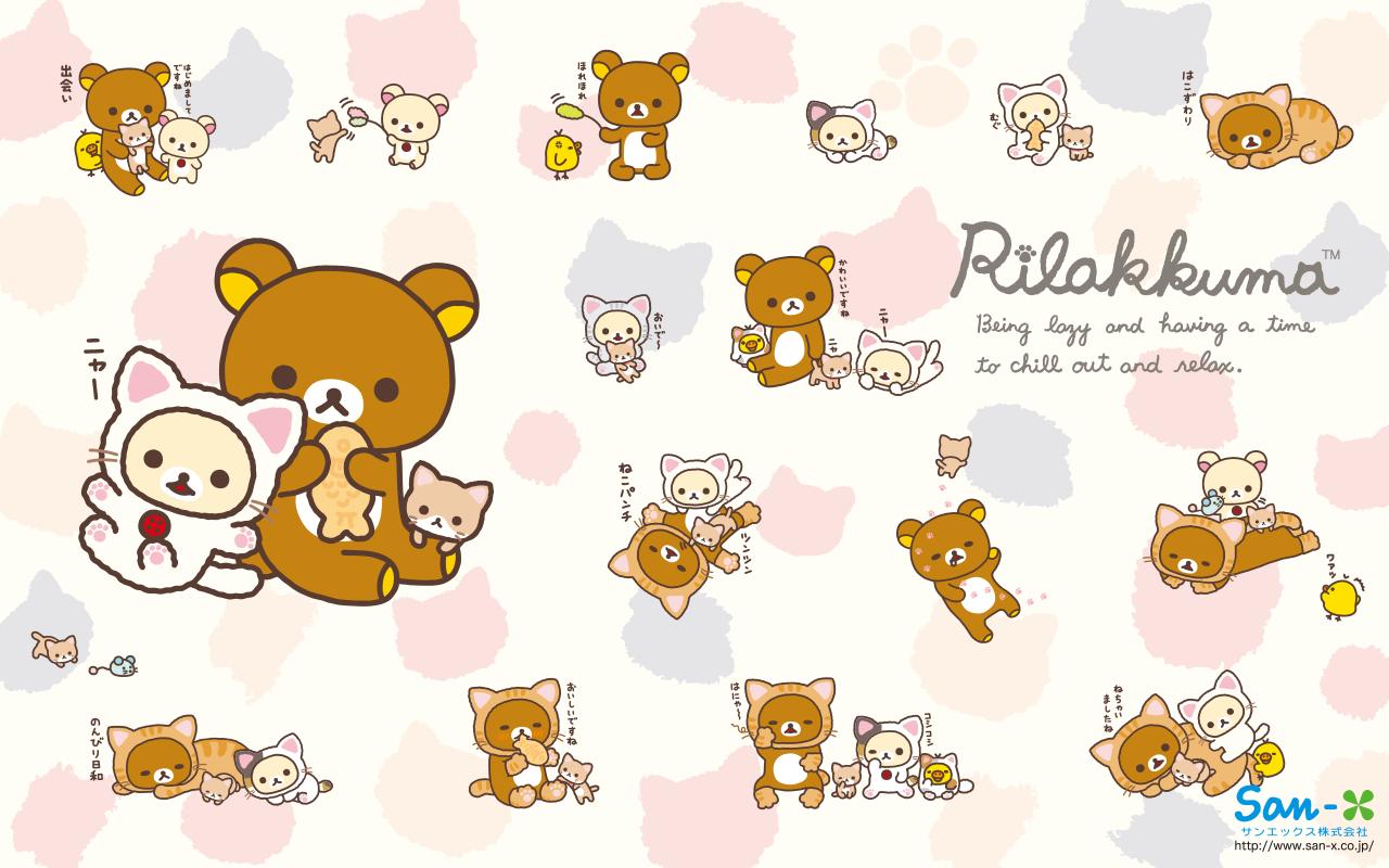 I love Kawaii  Kawaii Rilakkuma Wallpaper   Rilakkuma Nonbiri Neko