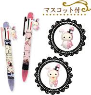 E caneta esferográfica de cor 5 com mascote
